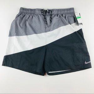 Nike Swim Men's Swimwear Black Gray White